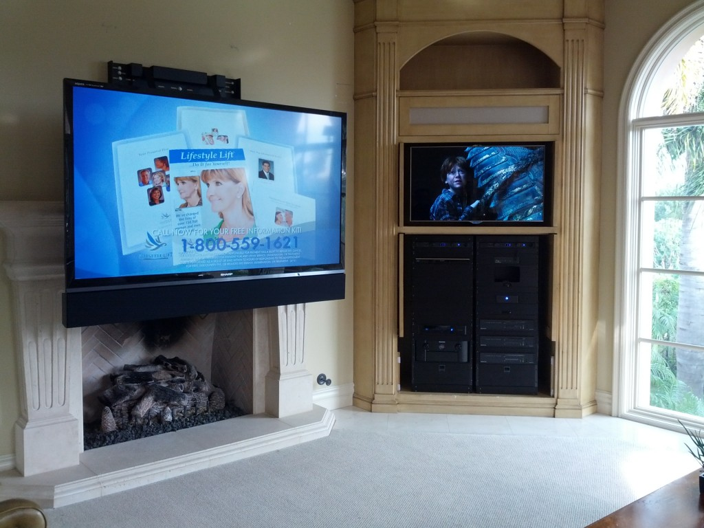 Recent installs categories nautilus media systems inc for Comfortvu motorized tv mount