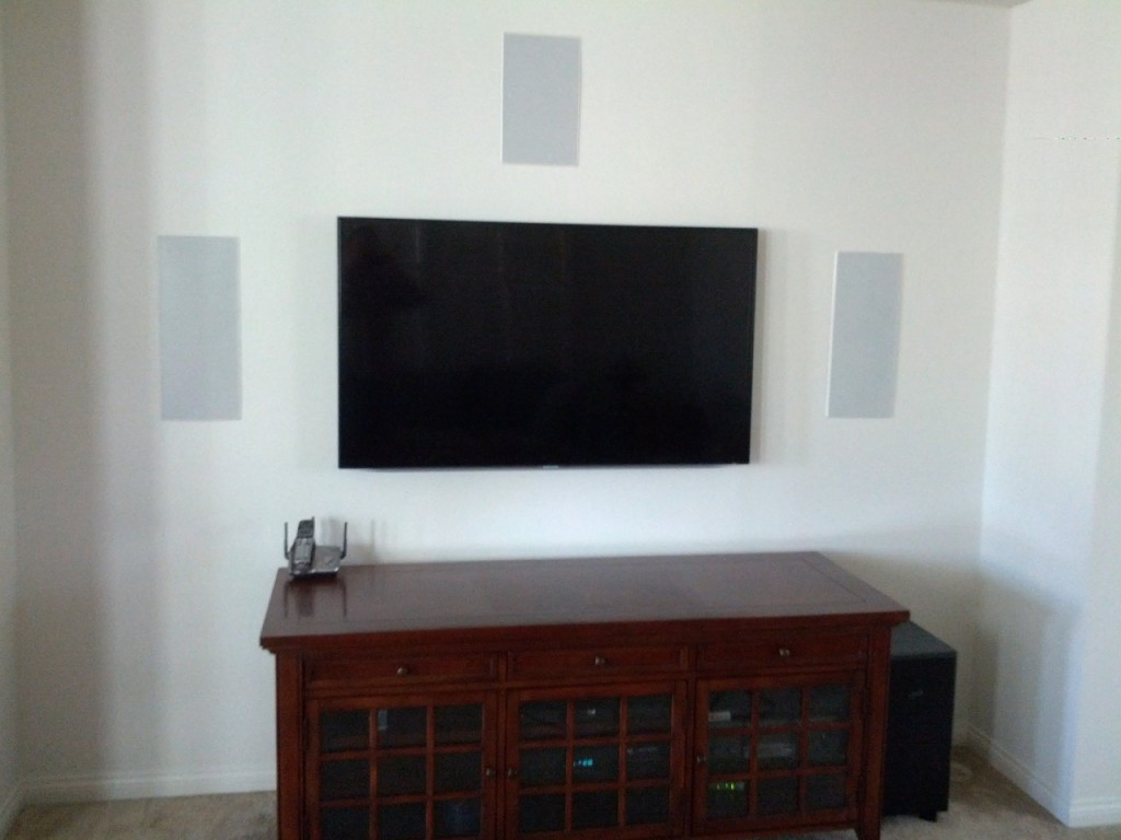 TV Install with In-wall LCR Speakers
